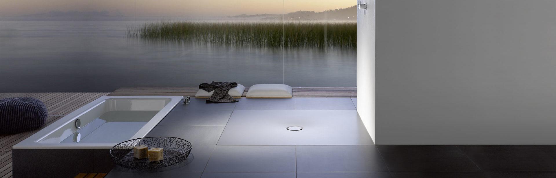 Bodengleiche Dusche mit durchgängiger Duschfläche